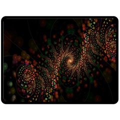 Multicolor Fractals Digital Art Design Fleece Blanket (Large)