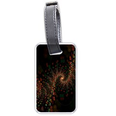 Multicolor Fractals Digital Art Design Luggage Tags (Two Sides)