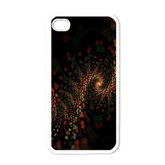 Multicolor Fractals Digital Art Design Apple iPhone 4 Case (White)
