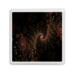 Multicolor Fractals Digital Art Design Memory Card Reader (Square)
