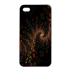 Multicolor Fractals Digital Art Design Apple iPhone 4/4s Seamless Case (Black)