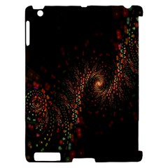 Multicolor Fractals Digital Art Design Apple iPad 2 Hardshell Case (Compatible with Smart Cover)