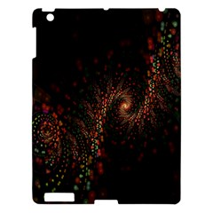 Multicolor Fractals Digital Art Design Apple iPad 3/4 Hardshell Case