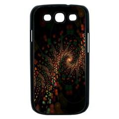 Multicolor Fractals Digital Art Design Samsung Galaxy S III Case (Black)