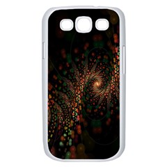 Multicolor Fractals Digital Art Design Samsung Galaxy S III Case (White)