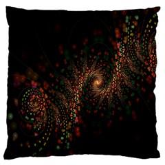 Multicolor Fractals Digital Art Design Large Cushion Case (One Side)