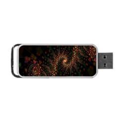 Multicolor Fractals Digital Art Design Portable USB Flash (One Side)