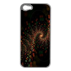 Multicolor Fractals Digital Art Design Apple iPhone 5 Case (Silver)