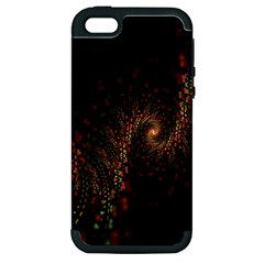 Multicolor Fractals Digital Art Design Apple iPhone 5 Hardshell Case (PC+Silicone)