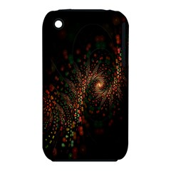 Multicolor Fractals Digital Art Design Apple iPhone 3G/3GS Hardshell Case (PC+Silicone)