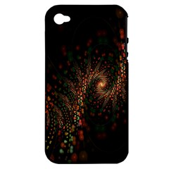 Multicolor Fractals Digital Art Design Apple iPhone 4/4S Hardshell Case (PC+Silicone)