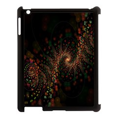 Multicolor Fractals Digital Art Design Apple iPad 3/4 Case (Black)