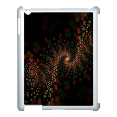 Multicolor Fractals Digital Art Design Apple iPad 3/4 Case (White)