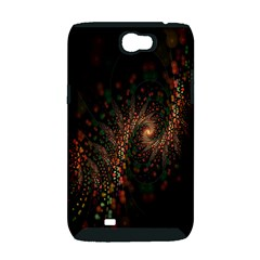 Multicolor Fractals Digital Art Design Samsung Galaxy Note 2 Hardshell Case (PC+Silicone)