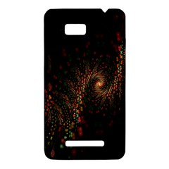 Multicolor Fractals Digital Art Design HTC One SU T528W Hardshell Case