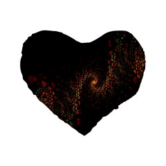 Multicolor Fractals Digital Art Design Standard 16  Premium Heart Shape Cushions