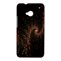 Multicolor Fractals Digital Art Design HTC One M7 Hardshell Case