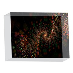 Multicolor Fractals Digital Art Design 5 x 7  Acrylic Photo Blocks