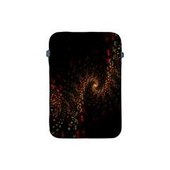 Multicolor Fractals Digital Art Design Apple iPad Mini Protective Soft Cases