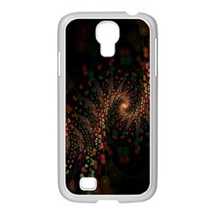 Multicolor Fractals Digital Art Design Samsung GALAXY S4 I9500/ I9505 Case (White)