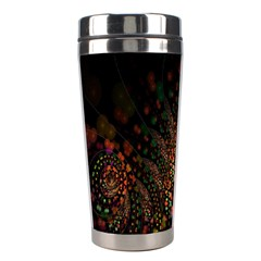 Multicolor Fractals Digital Art Design Stainless Steel Travel Tumblers