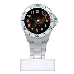Multicolor Fractals Digital Art Design Plastic Nurses Watch