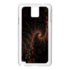 Multicolor Fractals Digital Art Design Samsung Galaxy Note 3 N9005 Case (White)