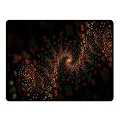 Multicolor Fractals Digital Art Design Double Sided Fleece Blanket (Small)