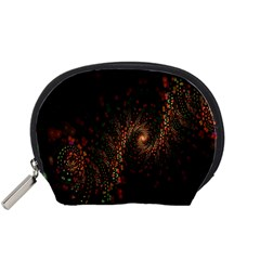 Multicolor Fractals Digital Art Design Accessory Pouches (Small)