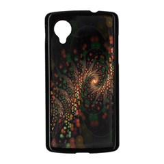 Multicolor Fractals Digital Art Design Nexus 5 Case (Black)