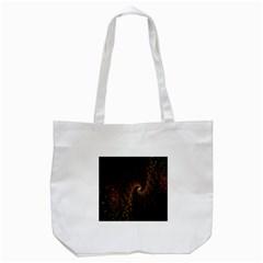 Multicolor Fractals Digital Art Design Tote Bag (White)