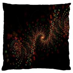 Multicolor Fractals Digital Art Design Large Flano Cushion Case (One Side)