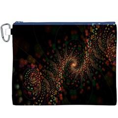 Multicolor Fractals Digital Art Design Canvas Cosmetic Bag (XXXL)