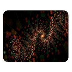 Multicolor Fractals Digital Art Design Double Sided Flano Blanket (Large)