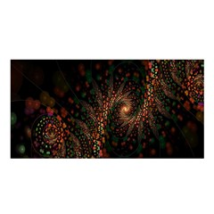 Multicolor Fractals Digital Art Design Satin Shawl