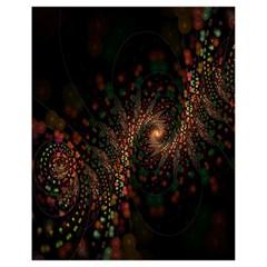 Multicolor Fractals Digital Art Design Drawstring Bag (Small)