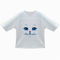 Cute White Cat Blue Eyes Face Infant/Toddler T-Shirts