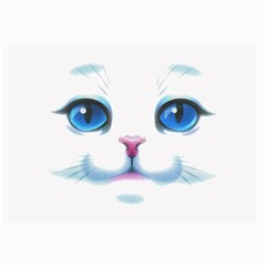 Cute White Cat Blue Eyes Face Collage Prints