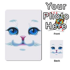 Cute White Cat Blue Eyes Face Multi-purpose Cards (Rectangle)