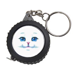 Cute White Cat Blue Eyes Face Measuring Tapes