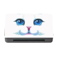 Cute White Cat Blue Eyes Face Memory Card Reader with CF