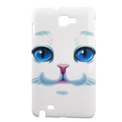 Cute White Cat Blue Eyes Face Samsung Galaxy Note 1 Hardshell Case