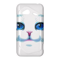 Cute White Cat Blue Eyes Face HTC Droid Incredible 4G LTE Hardshell Case