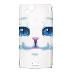 Cute White Cat Blue Eyes Face Sony Xperia Arc