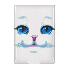 Cute White Cat Blue Eyes Face Kindle 4