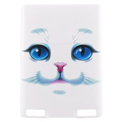 Cute White Cat Blue Eyes Face Kindle Touch 3G