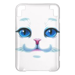 Cute White Cat Blue Eyes Face Kindle 3 Keyboard 3G