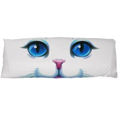 Cute White Cat Blue Eyes Face Body Pillow Case (Dakimakura)