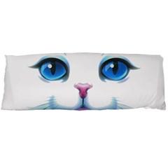 Cute White Cat Blue Eyes Face Body Pillow Case Dakimakura (Two Sides)