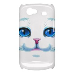 Cute White Cat Blue Eyes Face Samsung Galaxy Nexus S i9020 Hardshell Case
